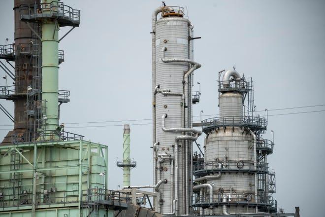 The Marathon petroleum refinery in southwest Detroit.
