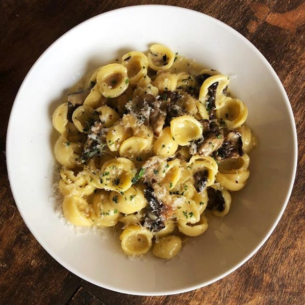 Orecchiette pasta with roasted mushrooms and sweet onion butter will be on the menu at Bar Verona in Commerce Township, scheduled to open July 1.