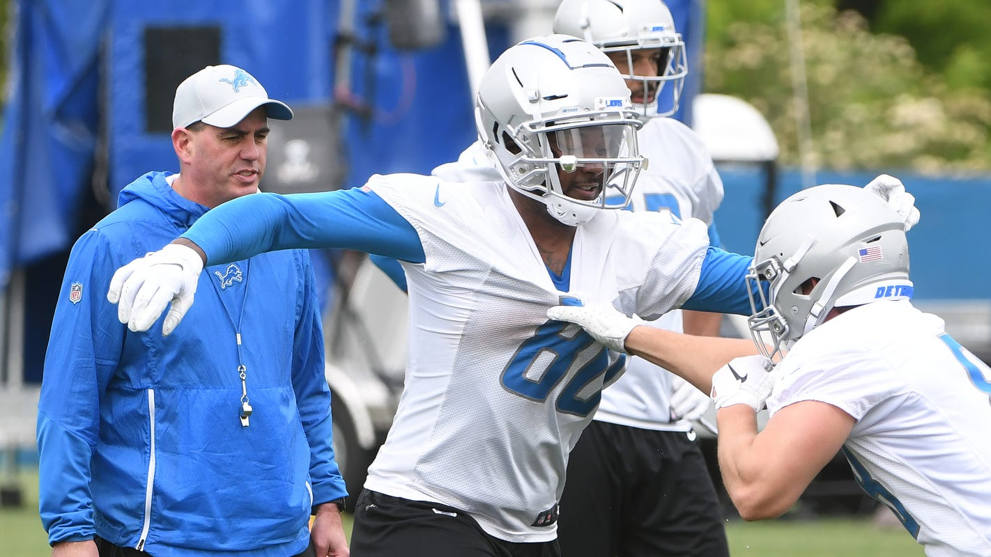 Lions' Michael Roberts not fazed, looks to be part of 'prolific' tight end group