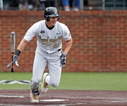 Vanderbilt's J.J. Bleday was among the first outfielder selected in the first round of the MLB Draft.