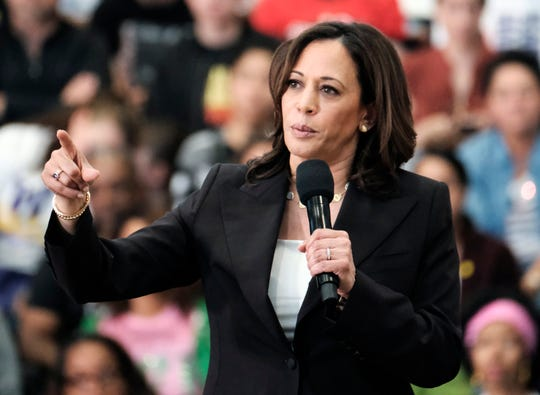 Sen. Kamala Harris, D-Calif., polls ahead of President Trump by 3 points -- within the 4-point margin of error.