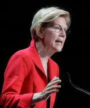 Sen. Elizabeth Warren, D-Mass., polls ahead of President Trump by 4 points, but trails him among independent voters.