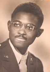 A photograph of J. Bernard Taylor during World War II.