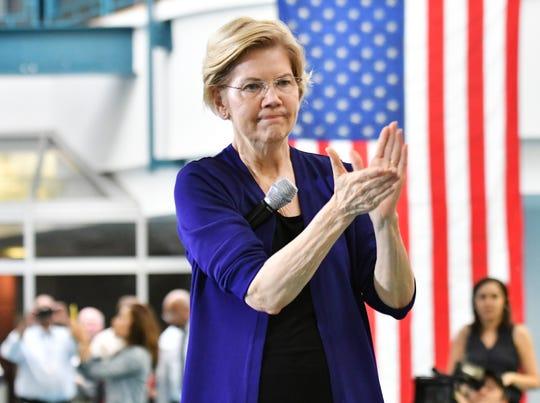 Presidential candidate Sen. Elizabeth Warren at Focus: HOPE in Detroit.