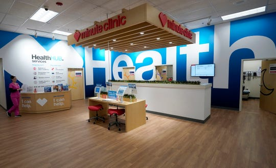The new HealthHUB is shown inside a CVS store in Spring, Texas. The drugstore chain that quit selling tobacco several years ago said Tuesday, June 4 it will expand the store model it started testing recently.
