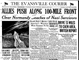 The Evansville Courier front page on June 7, 1944.