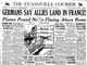The Evansville Courier front page on June 6, 1944.
