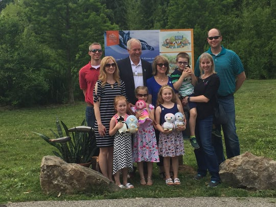 The family of Wayne and Beth Kinney were announced Tuesday as $600,000 contributors to Penguins of Patagonia, the exhibit planned for Mesker Park Zoo & Botanic Garden.