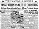 The Evansville Courier front page on June 10, 1944.