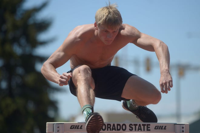 Fort Collins grad and CSU track athlete Hunter Powell practices on Thursday, May 30 in advance of the NCAA championships. Powell has qualified in the decathlon for the championships.
