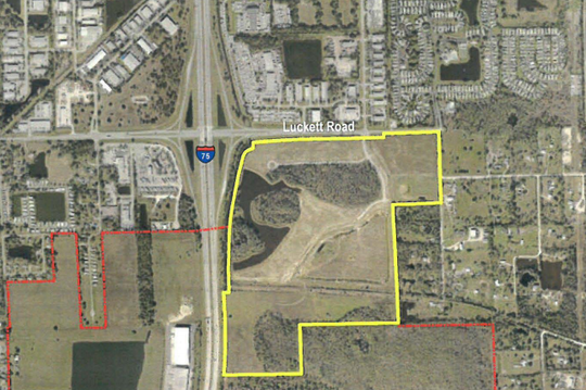 A screen grab shows an area of Luckett Road that was under consideration for future land use change by the city of Fort Myers.