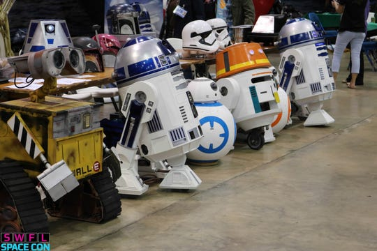 "The Southern R2 Builders Group returns to Saturday's SWFL SpaceCon in Fort Myers. The Florida group builds and operates remote-controlled R2-D2s and other ""Star Wars"" droids."