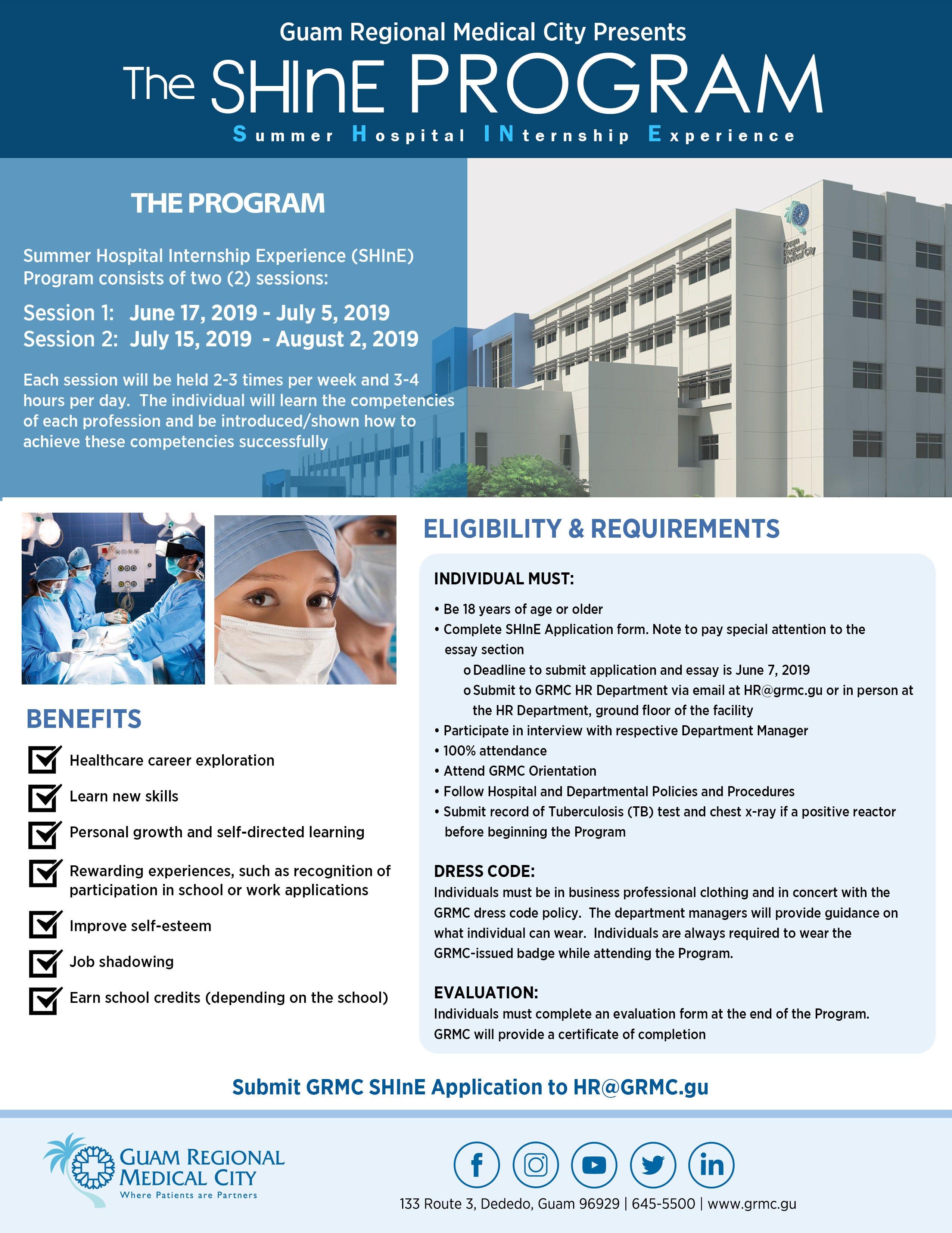 GRMC offers summer hospital internship program