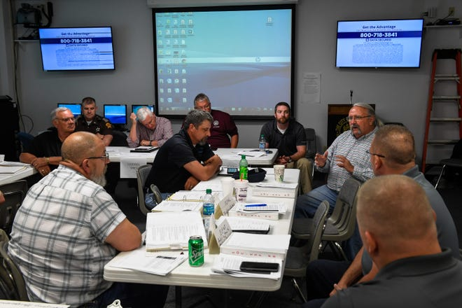 Approximately 25 local agencies/organizations participate in the Shaken Fury 2019 table top earthquake drill Thursday. Along with local agencies the drill included the U.S. Department of Energy, the U.S. Northern Command, May 30, 2019.