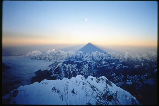 The view from Mount Everest during David Carter's 1997 trek to the summit.