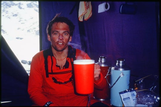 David Carter of Indianapolis during a 1997 trip up Mount Everest.