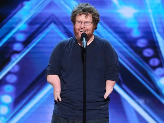 "Indianapolis comedian Ryan Niemiller is seen during his ""America's Got Talent"" audition."