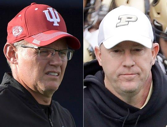 Tom Allen of IU and Jeff Brohm of Purdue.