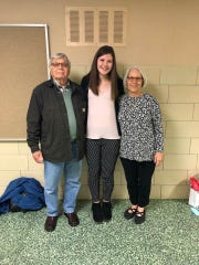 Roger and Lorene Jump, with their granddaughter Erin, the Student of the Year at her high school in Palmyra.