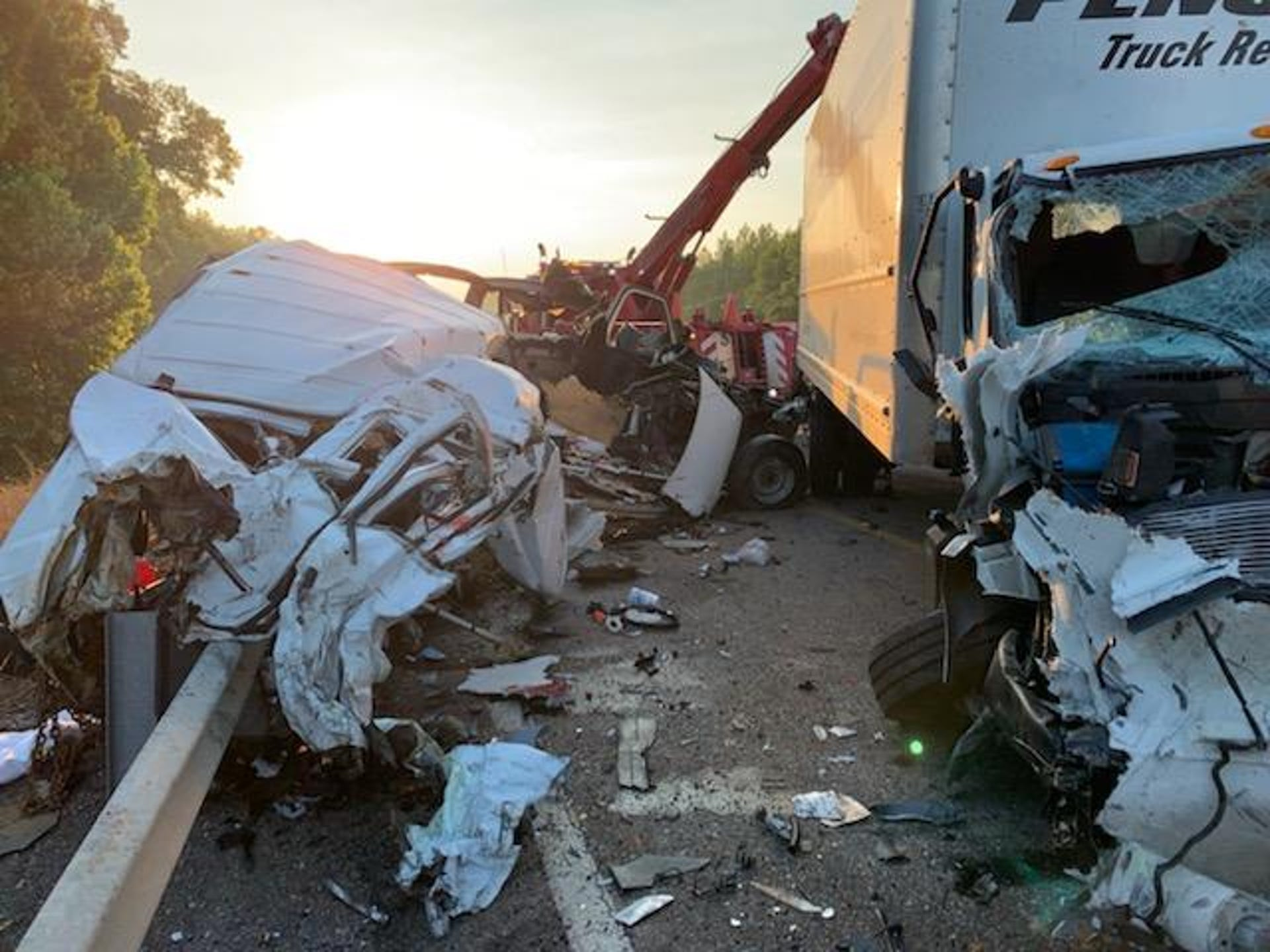 Scenes from a tragedy: Fatal accident in Mississippi claims 8