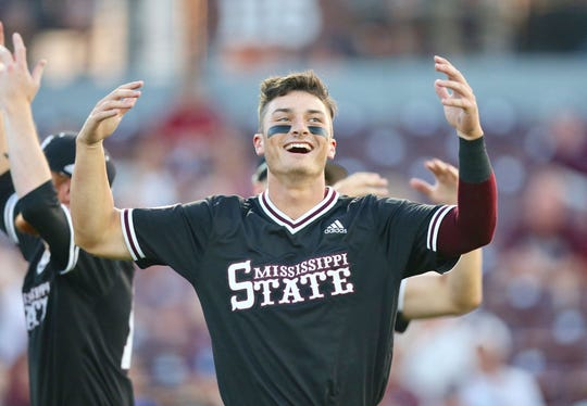 Mississippi State sophomore first baseman Justin Foscue has not gone hitless in back-to-back games all season. He also leads the team in home runs with 14.