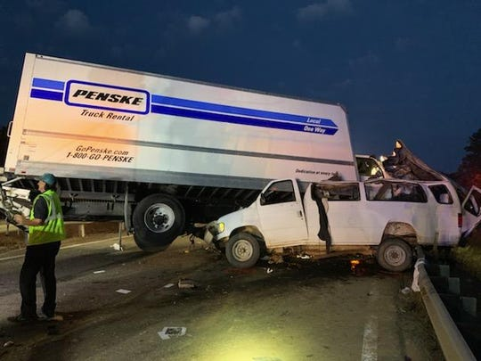 Eight people were killed before dawn Monday, June 3, 2019, in a head-on collision between a box truck and a passenger van on Mississippi Highway 16 east of Scooba, near the Alabama state line.