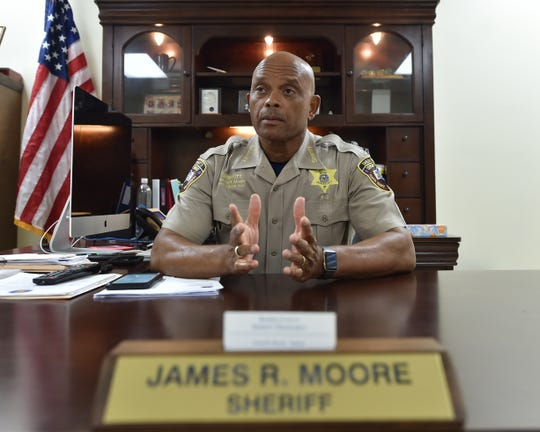 Kemper County Sheriff James R. Moore recounts Tuesday the scene of a traffic collision that happened before dawn Monday. The wreck killed eight when a van they were in and a Penske cargo truck collided on Mississippi 16 east of Scooba.