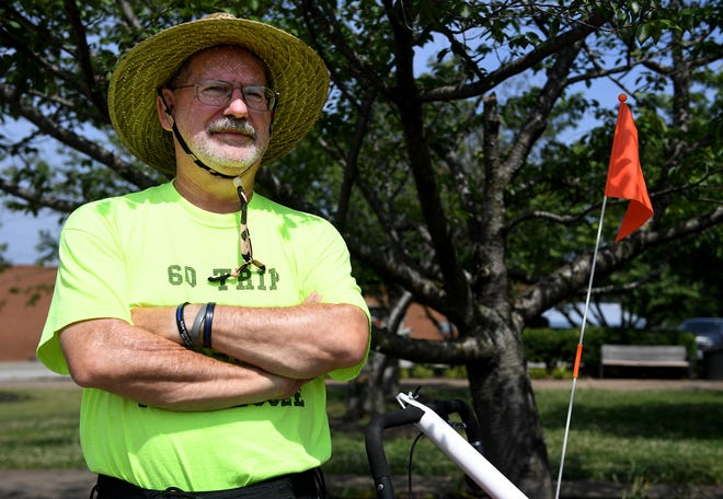 David Dudley is traveling 122 miles across Tennessee — on foot.