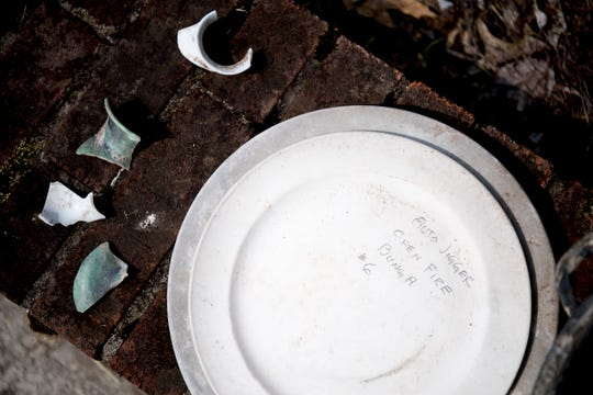 Discarded ceramic plates and other fragments of ceramic which were made in the kiln were discovered beneath a nearby building at the TVA Norris Engineering Lab Complex in Norris, Tennessee on Tuesday, June 4, 2019. The kiln, which dates back to the 1930's, was used to fire ceramics and test an electric kiln system.