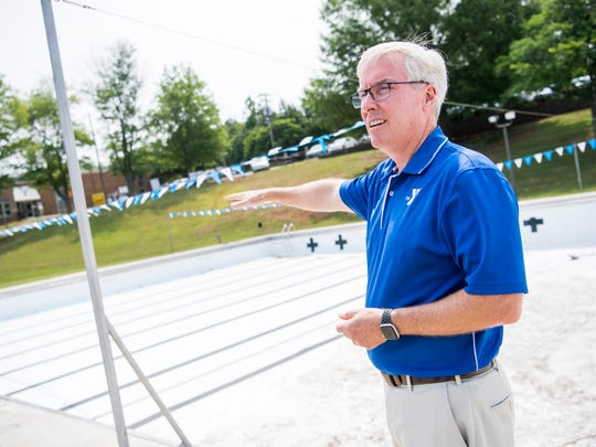 Jim Dickson, CEO of YMCA of East Tennessee, where the lanes will be in the outdoor pool at the West Side Family YMCA in Knoxville on Tuesday, June 4, 2019.