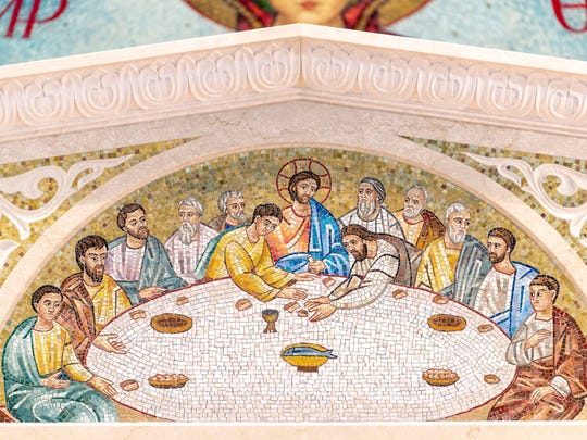 Mosaic of the Last Supper at St. George Greek Orthodox Church on Tuesday, June 4, 2019.