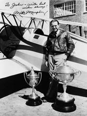 Mike Murphy after winning the All-American Air Maneuvers contest in Miami, Florida on January 12, 1941.