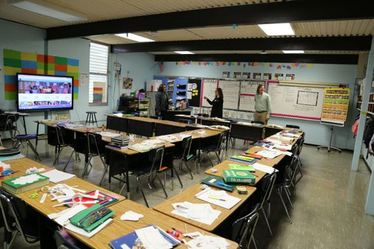 Grants are often presented to teachers in their rooms. Lafayette Education Foundation has been presenting funds to teachers for over 30 years.