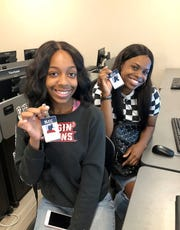 "Northside High rising seniors Jonaisha Pennamon (left) and Victoria Sam are part of  a ""College Immersion"" program this summer at South Louisiana Community College. They'll finish in six weeks with three college credits, ACT prep and experience on a college campus under their belts."