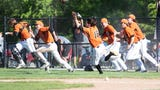 Fenton ended Hartland's district baseball title run when a batter was hit with the bases loaded in the seventh.