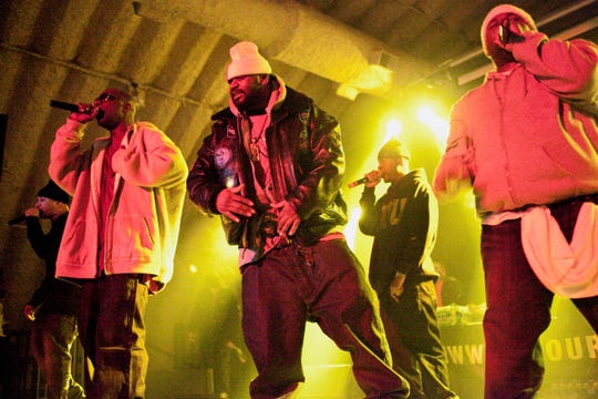 The Wu-Tang Clan performs in Louisville at the Expo Five in January 2011.