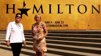 """Kirby Adams and Leslie Broecker talk about the opening number of the hit musical """"Hamilton,"""" which is running in Louisville through June 23."""