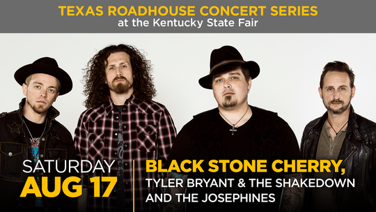 Black Stone Cherry will perform at the Texas Roadhouse Concert Series at the 2019 Kentucky State Fair.