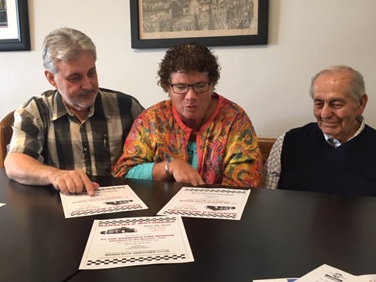 Steve Allen, Sheila Finnerty and George Recck, members of the Mansfield SERTOMA Club, are planning Mansfield Motorama, a classic car show, 11 a.m. to 3 p.m. June 29 at the Mansfield Fire Museum. The fundraiser supports children with hearing disabilities through theclub.