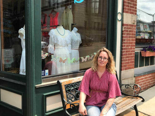 """Katy McClenathan, owner of Old Soul Vintage Attire and Records, said she feels there is an """"open door"""" for small business in Mansfield."""