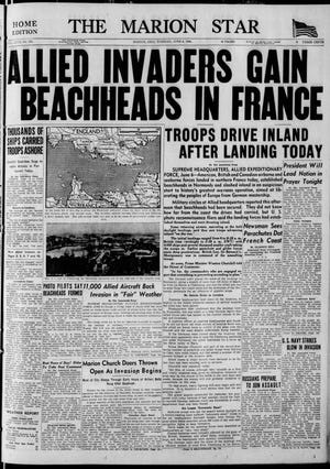 The cover of the Marion Star on June 6, 1944.