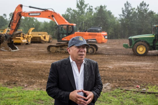 Yehuda Netanel, president of Gilad Development, developers of the Lake District in Lakeland, speaks during a media event at the site of The Lake District Tuesday morning, June 04, 2019.