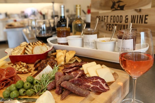 A charcuterie and cheese board, created by Sur La Table Chef Aaron Winters, using some of the local foods that will be featured at the Craft Food & Wine Festival.