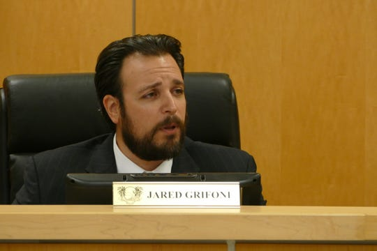 "Councilor Jared Grifoni said people should be less concerned about a (medical marijuana) dispensary than they are about a traditional pharmacy or a liquor store. ""Many of the substances sold in those types of locations are many times more dangerous than anything you'd find in a dispensary,"" Grifoni said."