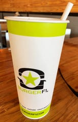 In addition to customizing your drink flavor, you'll find paper straws, instead of plastic, at BurgerFi.