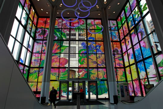 Chicago artist Carlos Rolón has transformed the lobby cube of Chase Bank into a translucent diorama of tropical flora at the corner of N. Water St. and E. Wisconsin Ave. Rolón's installation is the centerpiece of Sculpture Milwaukee 2019.
