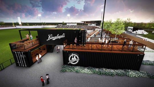 The Leinenkugel Hop Yard enclosed beer garden will be found on the third base line.