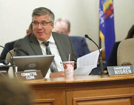 Republican Rep. John Nygren of Marinette listens during a May 2019 meeting of the Legislature's Joint Finance Committee. Nygren is co-chairman of the committee.   Michael Sears/Milwaukee Journal Sentinel