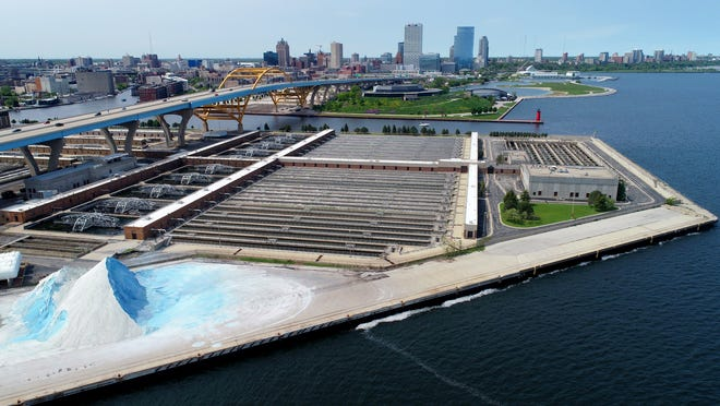 The wastewater treatment system at Veolia Water Milwaukee, contracted by the Milwaukee Metropolitan Sewerage District, rests on Jones Island in Milwaukee on Monday, June 3, 2019.