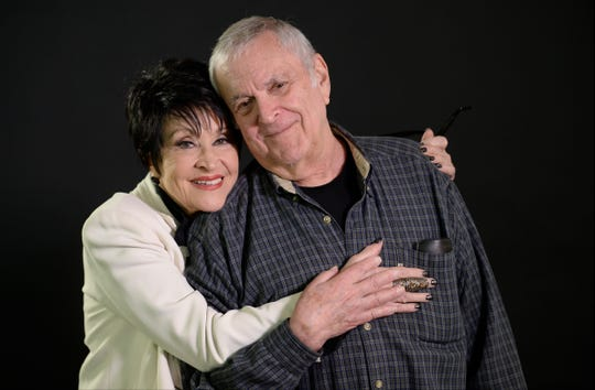 "2015: Chita Rivera hugs composer John Kander. They were working together on the musical ""The Visit."" Rivera has starred in many Kander and Ebb musicals, including ""Chicago,"" ""The Rink"" and ""Kiss of the Spider Woman."""